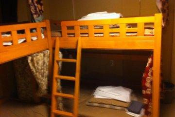 Bunk in tatami bunk room