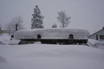 <p>หิมะท่วมจริงๆ</p>