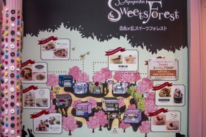 Jiyugaoka Sweets Forest is actually a collection of 8 cafés in a single location. It is really popular with the ladies in Tokyo.