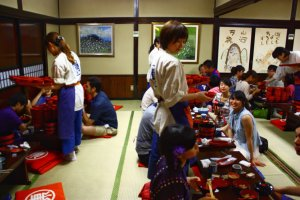 The wanko soba challenge is very popular amongst visitors and restaurants are usually busy.