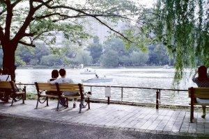 우에노 공원에서의 휴식