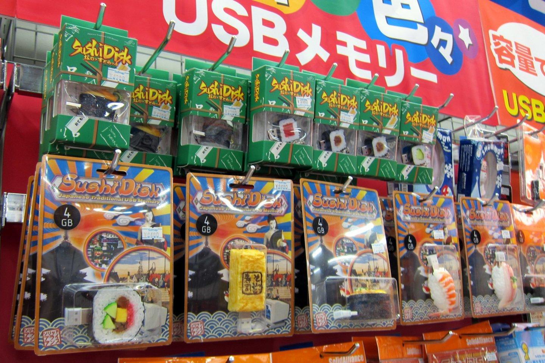 USB Sushi Sticks on display