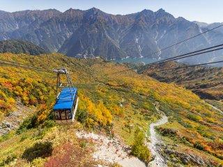 The cable car takes you from Murodo down to Kurobe Dam