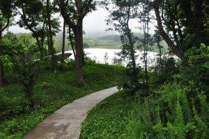 Path Approaching the Teshima Art Museum