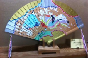 Fan with design from Tale of Genji