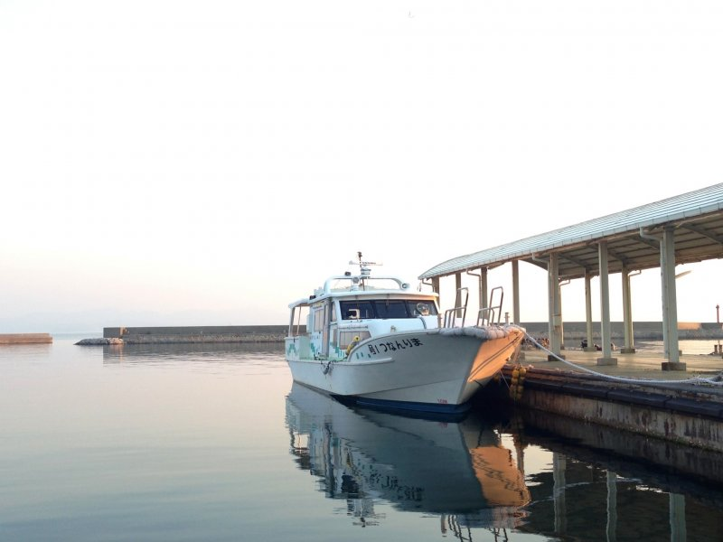 The Art Liner fast ferry at Ieura Port in Teshima.