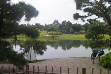 Okayama Castle from the garden