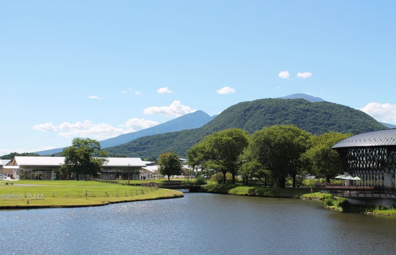 <p>Mount Asama provides a stunning backdrop</p>
