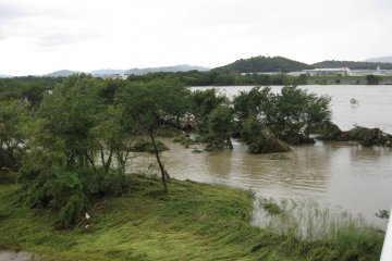 Typhoons can cause flooding, landslides, and major damage to old structures.