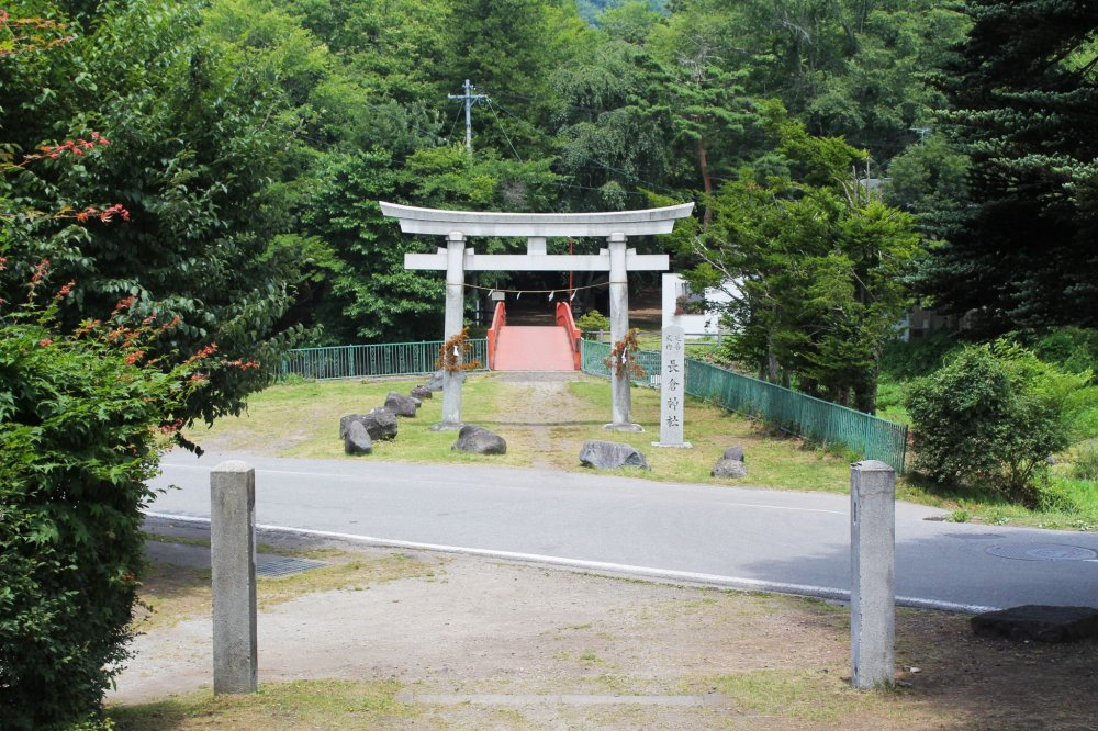 The entrance to the shrine is just off the main road