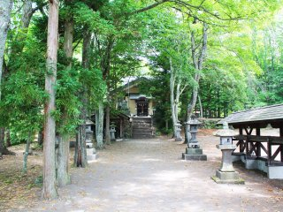 The shrine is shrouded in beautiful trees