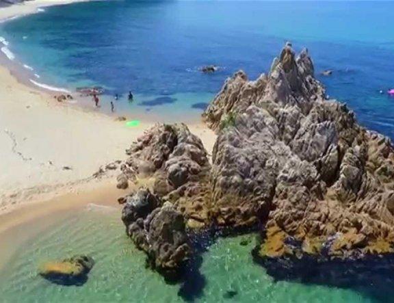 Голубые воды пляжа Суйсё-хама