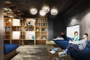Nội thất đáng mong đợi của Sách và Giường Tokyo