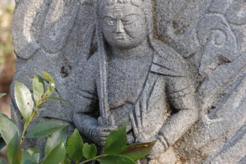 Fudō Myōō statue in courtyard
