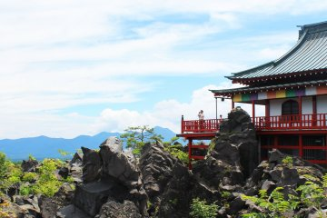 <p>You can enjoy the excellent view from the temple &nbsp;</p>