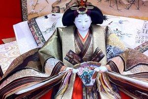 Detail of the 16 layers of kimono