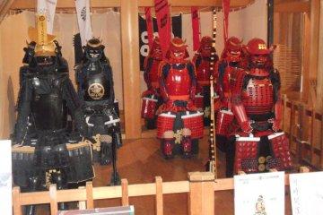 Samurai armor on display, Shiroishi Castle
