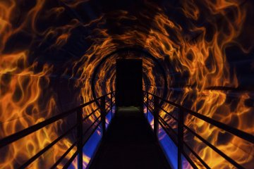 This flame tunnel is as scary as it is beautiful. Let's cross the bring to discover the rest of Luffy's story.