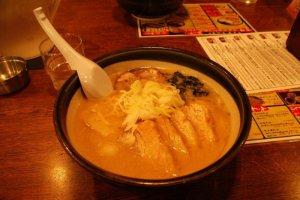 ...whereas miso ramen has a much thicker broth and taste