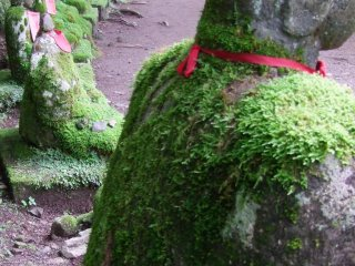 The Jizo stretch out a very long way