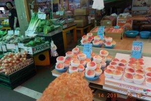A fruit shop in the Asaichi Market