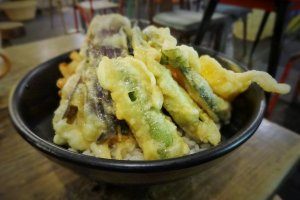 Delicious vegetable tempura at Bombay Bazar