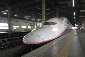 The fast bullet train from Tokyo to Niigata Prefecture