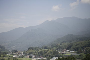 <p>The beautiful view on the train on the Joetsu Shinkansen train on the way back.</p>