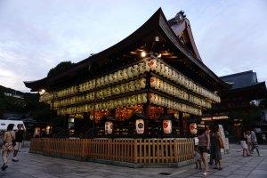 Rumah Panggung di Yasaka Jinja Shrine Kyoto