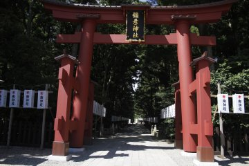 <p>The large entrance to the shrine.&nbsp;</p>