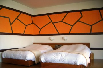 Deep and comfortable Beds, though the nineties decor may divide opinions.