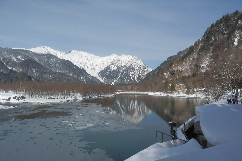 Reflection of Mt. Yakedake in Taisho Pond