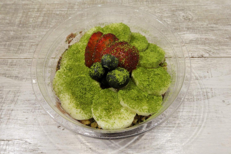The acai matcha bowl at Island Veggie in Hiroo