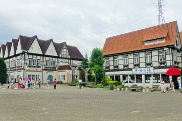 <p>The entire park is designed to feel like a German village (a la Walt Disney, perhaps)</p>