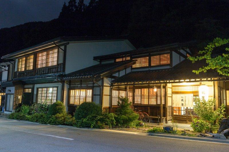 <p>밤의 카제야 료칸은 고요하고 평화롭습니다.</p>