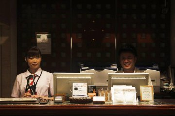 <p>Some of the friendly staff at reception.</p>