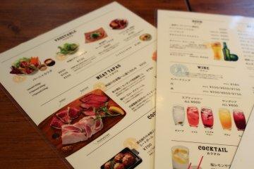 <p>Shots of the menu</p>