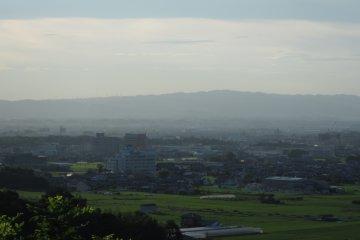 <p>Looking west toward Takada and Katsuragi Cities</p>