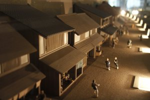 A model of how the city used to look. Shinagawa Historical Museum.
