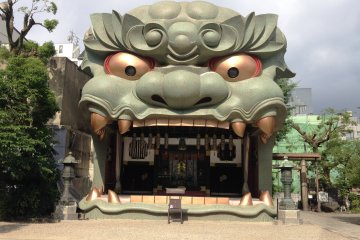 At twelve meters high, the Lion looks like a shisa which is more commonly associated with Okinawa.