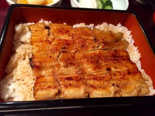 Моя порция жареного угря (унаги) с рисом
