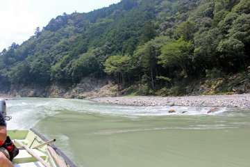 <p>After coming up the rapids</p>
