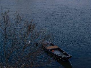 """Um barco tradicional """"kandori"""""""