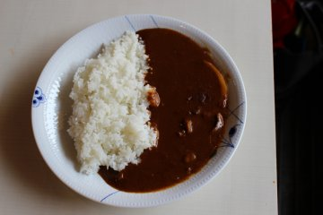 <p>The curry rice</p>
