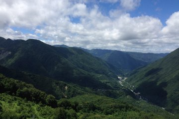 <p>The Shinhotaka mountains as seen from the top of the Shinhotaka Ropeway</p>