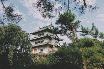 <p>Hirosaki Castle in summer</p>