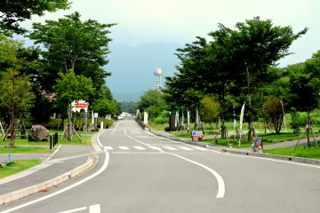 <p>You can drive around the spacious landscaped park &nbsp;</p>