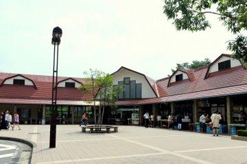 <p>View of Asagiri Kogen Road Station</p>