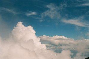 7층에서 보이는 구름입니다.