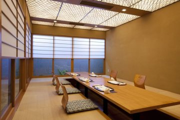 <p>Suisen (hori-kotatsu table seats 12)</p>